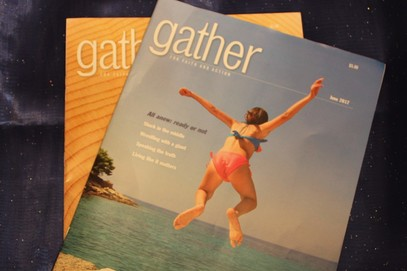 Picture of Gather magazine for Bible study